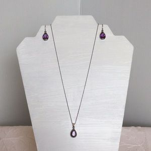 Silver Necklace/Earrings Set